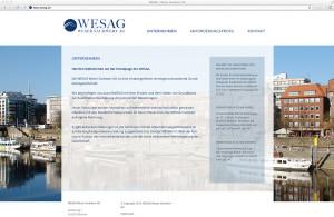 WESAG Webseite