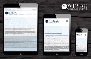 WESAG Webseite responsive
